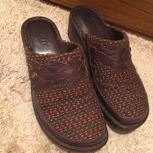 Born tweed clogs mules fall color 6 flats 36.5
